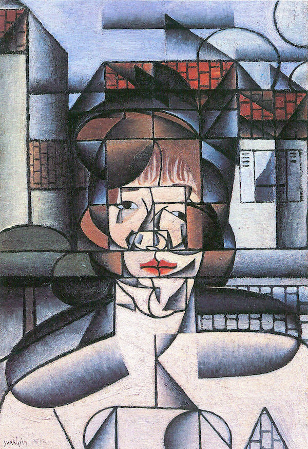 Portrait of Madame Germaine Raynal -1- by Juan Gris  Print